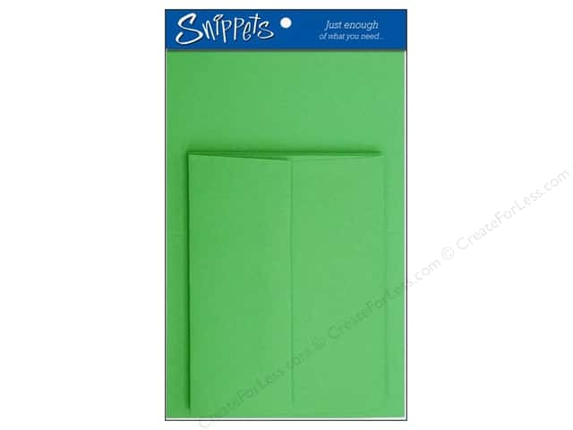 Paper Accents 4 1/4 x 5 1/2 in. Blank Card & Envelopes 3 pc. Green Grass