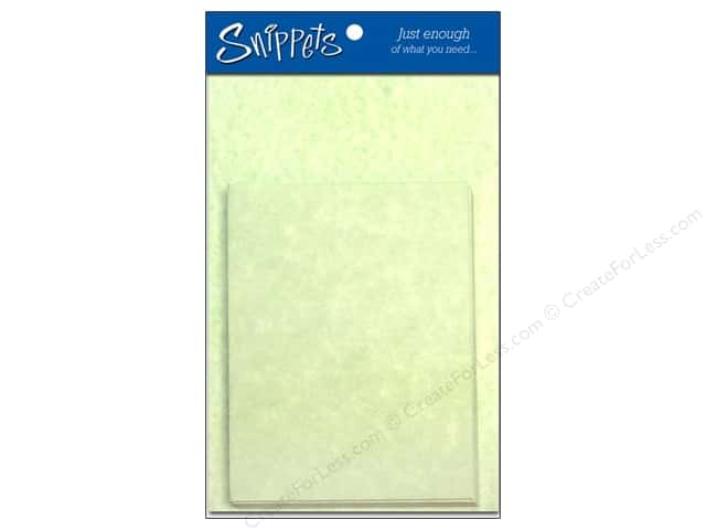 Paper Accents 4 1/4 x 5 1/2 in. Blank Card & Envelopes 3 pc. Green Parchment