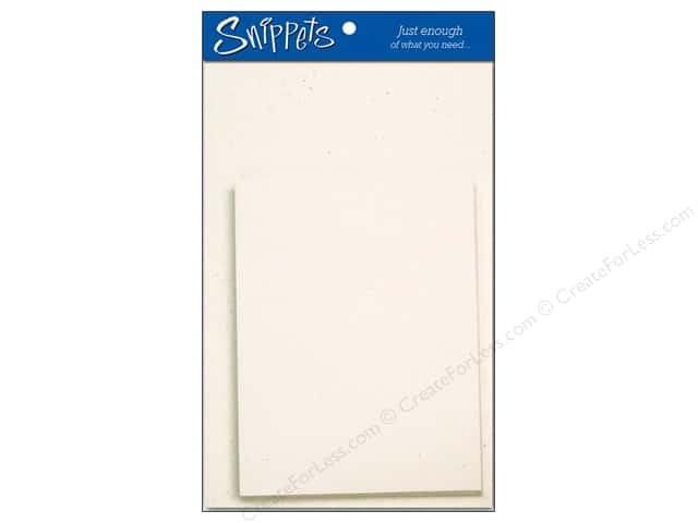 Paper Accents 4 1/4 x 5 1/2 in. Blank Card & Envelopes 3 pc. Recycled Birch