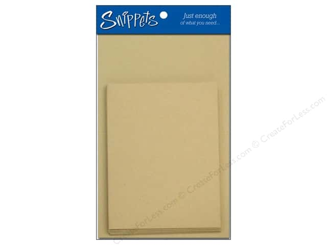 Paper Accents 4 1/4 x 5 1/2 in. Blank Card & Envelopes 3 pc. Kraft