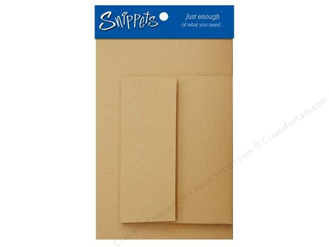 Paper Accents 4 1/4 x 5 1/2 in. Blank Card & Envelopes 3 pc. Brown Bag