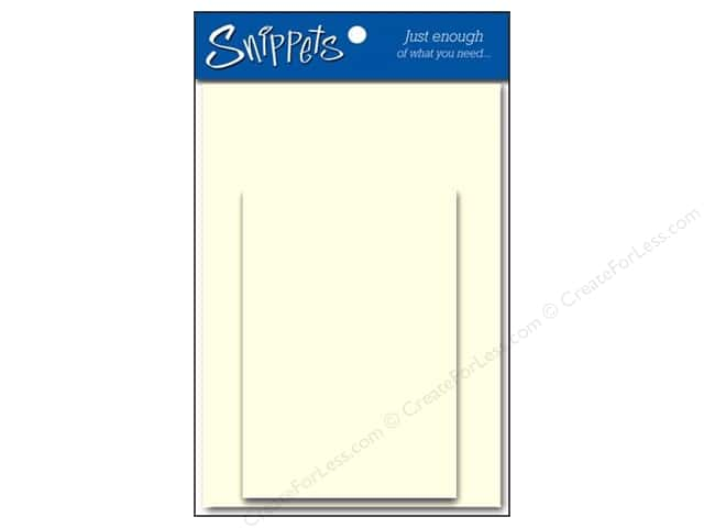 Paper Accents 4 1/4 x 5 1/2 in. Blank Card & Envelopes 3 pc. Linen Light Ivory