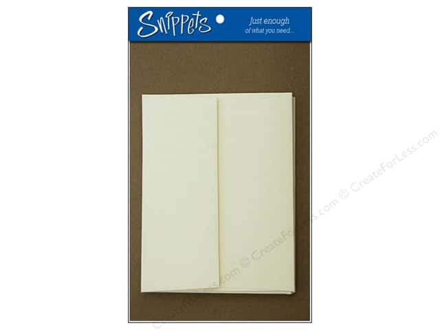 4 1/4 x 5 1/2 in. Blank Card & Envelopes by Paper Accents 3 pc. Clove/Cream