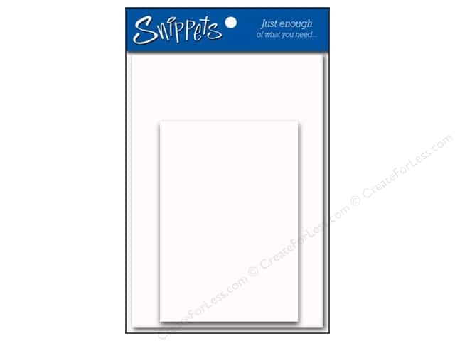 4 1/4 x 5 1/2 in. Blank Card & Envelopes by Paper Accents 3 pc. Glossy White