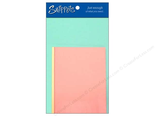 Paper Accents 4 1/4 x 5 1/2 in. Blank Card & Envelopes 3 pc. Pastel