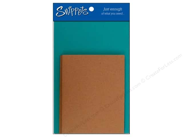 Paper Accents 4 1/4 x 5 1/2 in. Blank Card & Envelopes 3 pc. Lagoon/Brown Bag