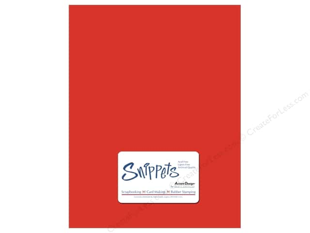 Cardstock 8 1/2 x 11 in. #101 Smooth Red by Paper Accents 5 pc.