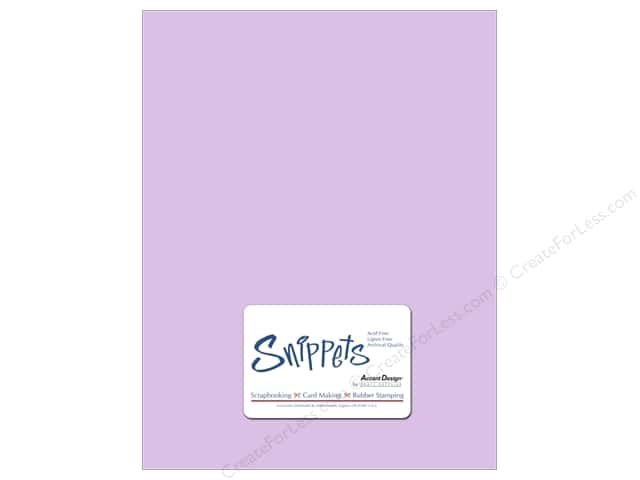 Cardstock 8 1/2 x 11 in. #123 Smooth Lavender by Paper Accents 5 pc.