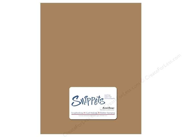 Cardstock 8 1/2 x 11 in. #357 Recycled Brown Bag 5 pc. by Paper Accents