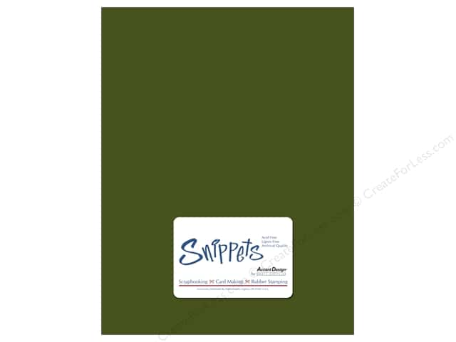 Cardstock 8 1/2 x 11 in. #10088 Stash Builder Green Bean 5 pc. by Paper Accents