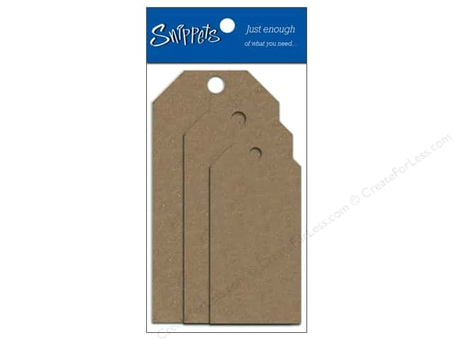 Craft Tags by Paper Accents Assorted Sizes 6 pc. Brown Bag