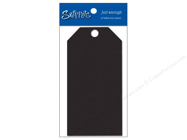 Craft Tags by Paper Accents 1 5/8 x 3 1/4 in. 10 pc. Black