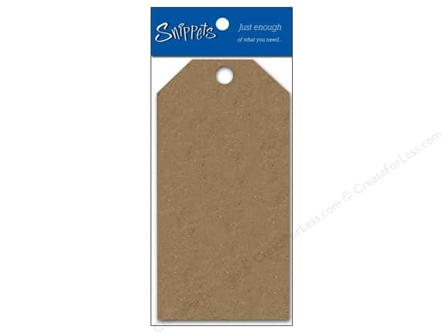 Craft Tags by Paper Accents 1 5/8 x 3 1/4 in. 10 pc. Brown Bag