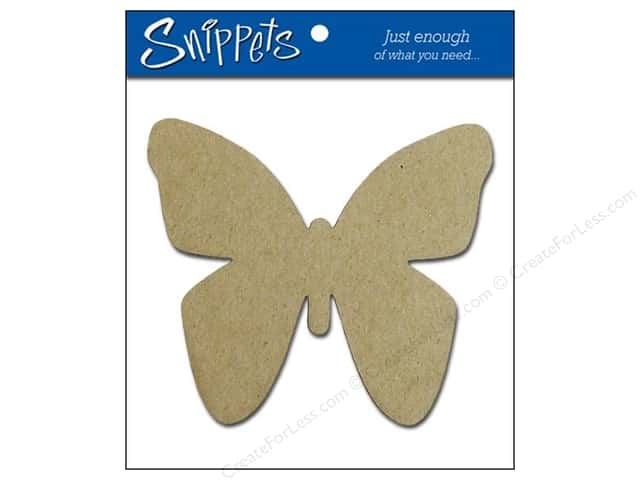 Paper Accents Chipboard Shape Butterfly 3 pc. Natural