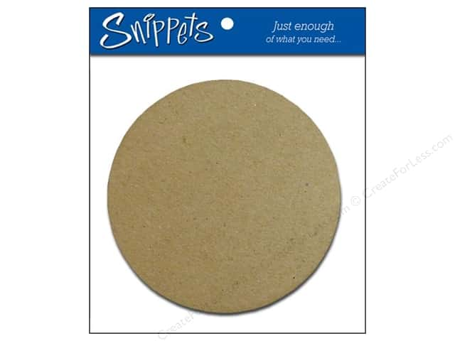 Paper Accents Chipboard Shape Circle 3 pc. Natural