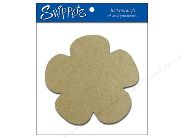 Paper Accents Chipboard Shape Flower 3 pc. Natural