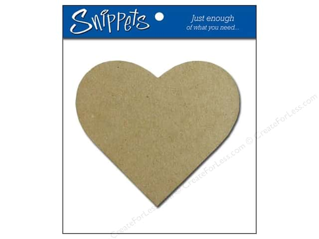 Paper Accents Chipboard Shape Heart 3 pc. Natural