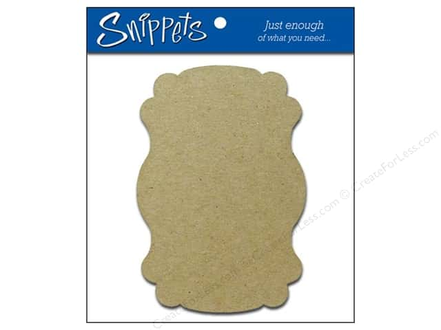 Paper Accents Chipboard Shape Marquee 3 pc. Natural