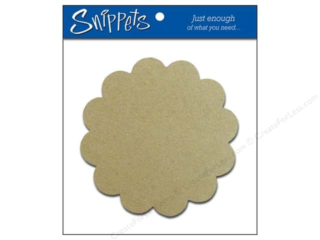 Paper Accents Chipboard Scallop Circle 3 pc. Natural