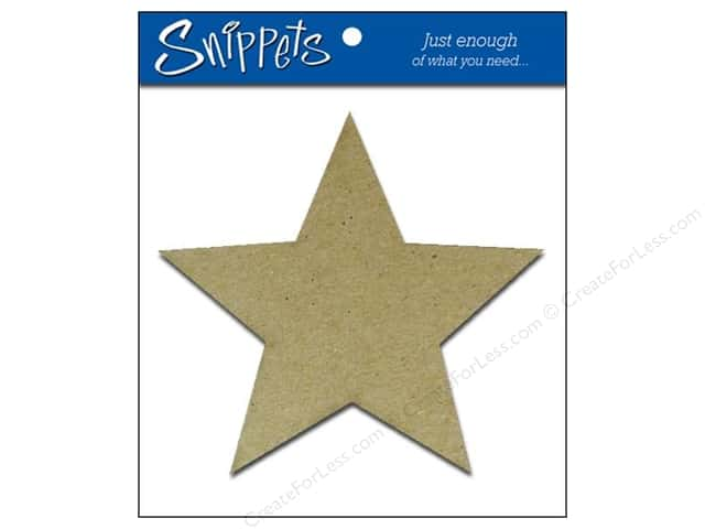 Paper Accents Chipboard Shape Star 3 pc. Natural
