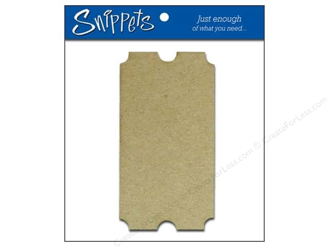 Paper Accents Chipboard Shape Ticket 3 pc. Natural