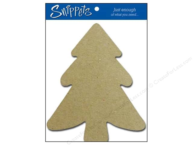 Paper Accents Chipboard Shape Tree 3 pc. Natural