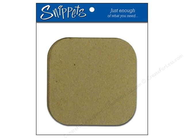 Paper Accents Chipboard Shape Snippets Square Round Corner 3 pc. Natural