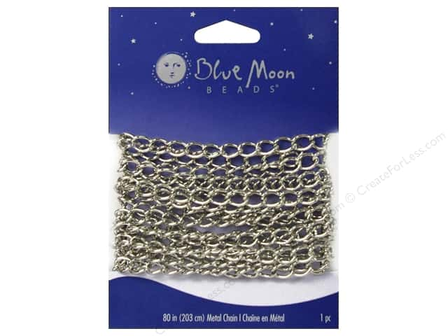 Blue Moon Beads Large Wide Cable Chain 80 in. Silver