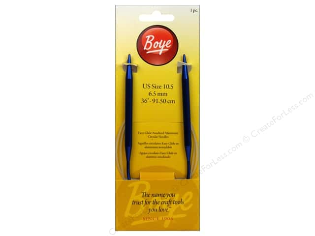 Boye Circular Knitting Needles Aluminum 36 in. Size 10.5 (6.5 mm)