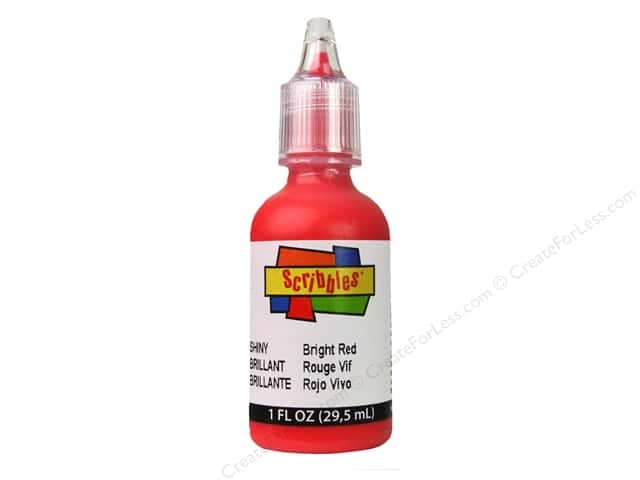 Scribbles 3D Fabric Paint 1 oz. Shiny Bright Red