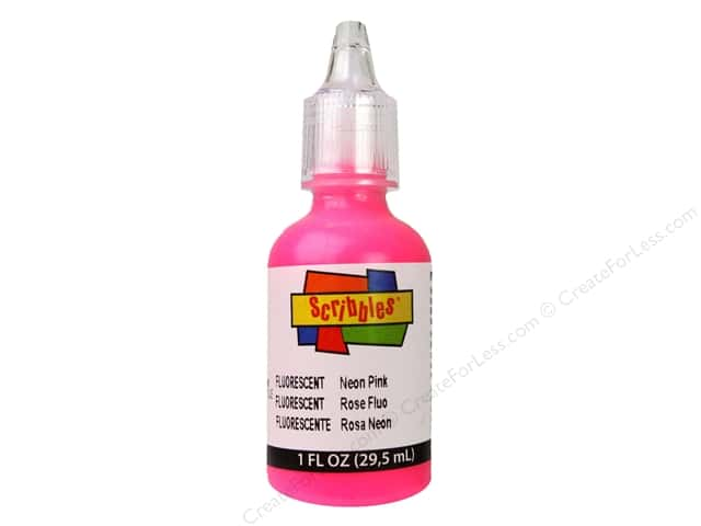 Scribbles 3D Fabric Paint 1 oz. Neon Pink