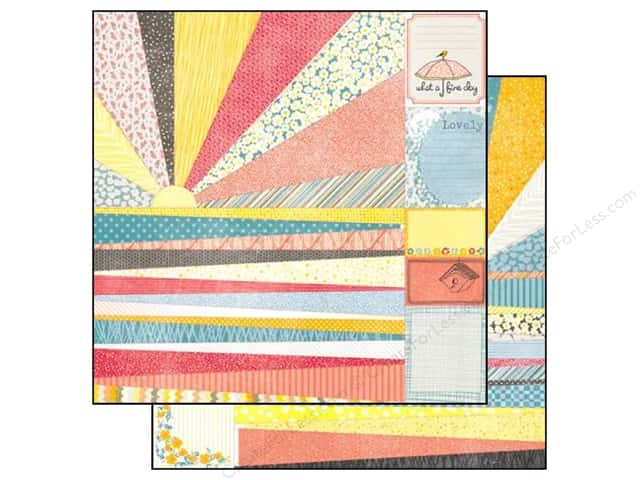 "SEI Paper 12""x 12"" Vanilla Sunshine Perforated Sheet (25 sheets)"