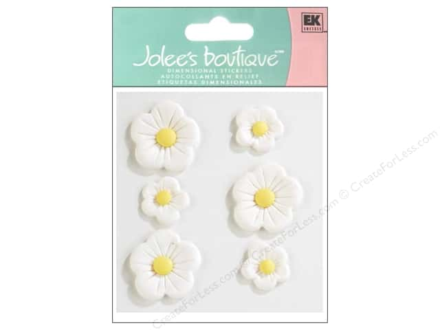 Jolee's Boutique Stickers Confection Fondant Flower Large White