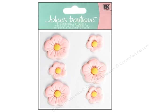 Jolee's Boutique Stickers Confection Fondant Flower Large Pink