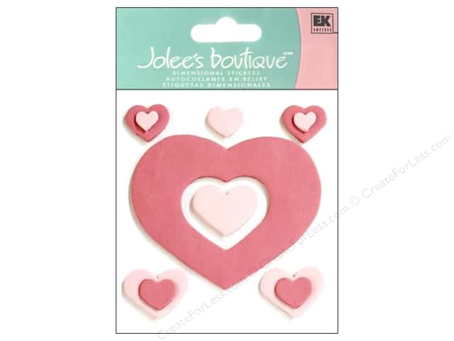 Jolee's Boutique Stickers Confection Fondant Hearts