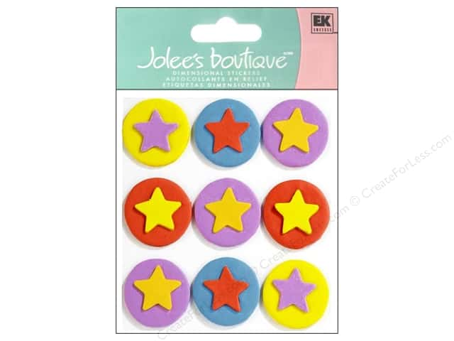 Jolee's Boutique Stickers Confection Fondant Stars