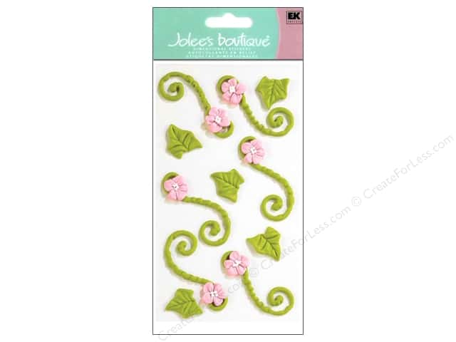 Jolee's Boutique Stickers Confection Icing Floral Flourishes Green