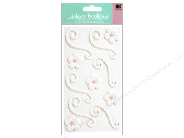 Jolee's Boutique Stickers Confection Icing Swirls Flourishes White