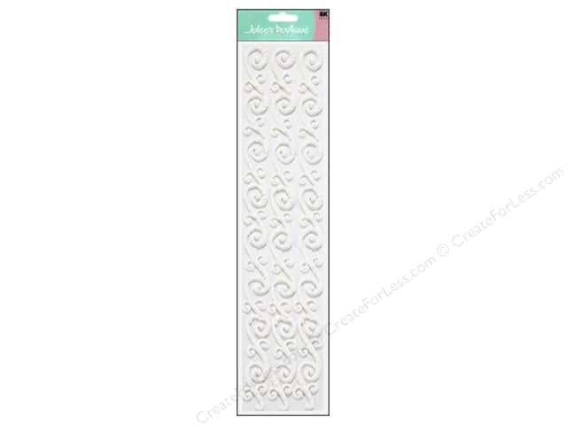 Jolee's Boutique Stickers Confection Icing Border Flourish White