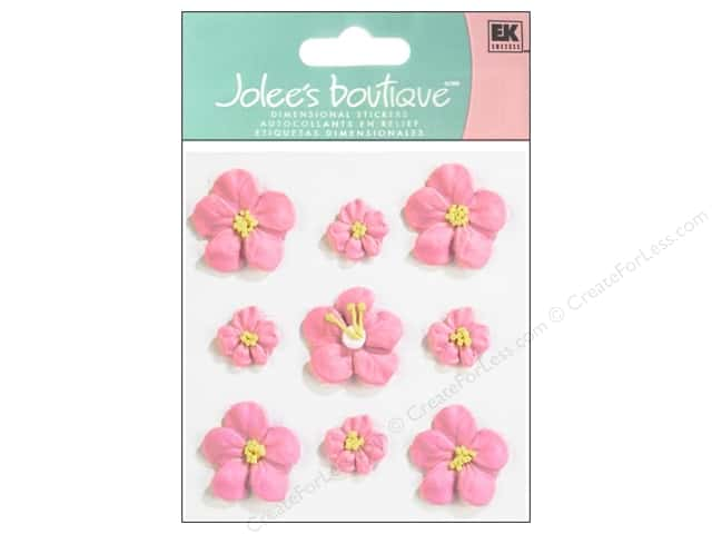 Jolee's Boutique Stickers Confection Icing Flower Small  and Large Pink