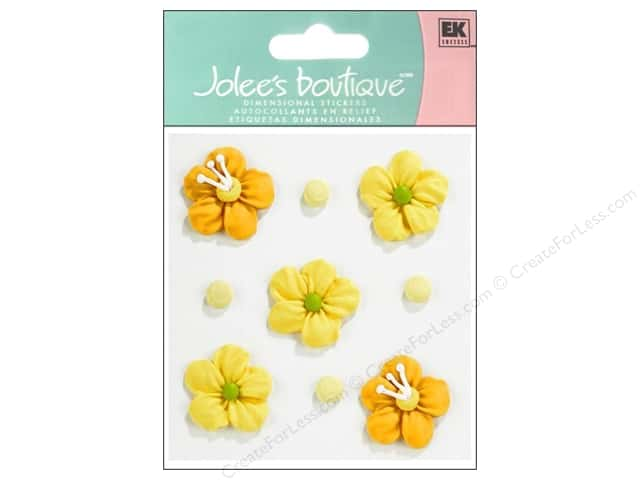 Jolee's Boutique Stickers Confection Icing Flower Yellow and Orange