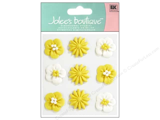 Jolee's Boutique Stickers Confection Icing Swirls Yellow
