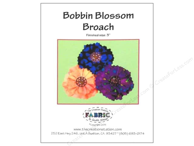 The Creation Station Bobbin Blossom Broach Pattern