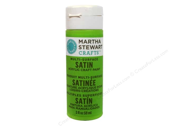 Martha Stewart Craft Paint by Plaid Satin Green Curry 2 oz.