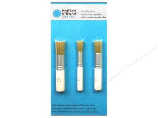 Martha Stewart Tools by Plaid Stencil Brush Set 3pc
