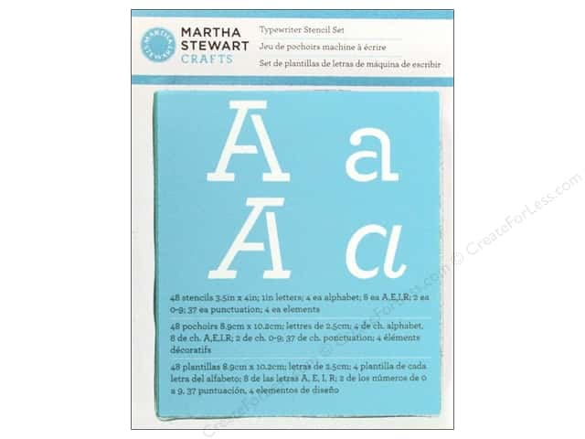 Martha Stewart Stencils by Plaid Alphabet Typewriter