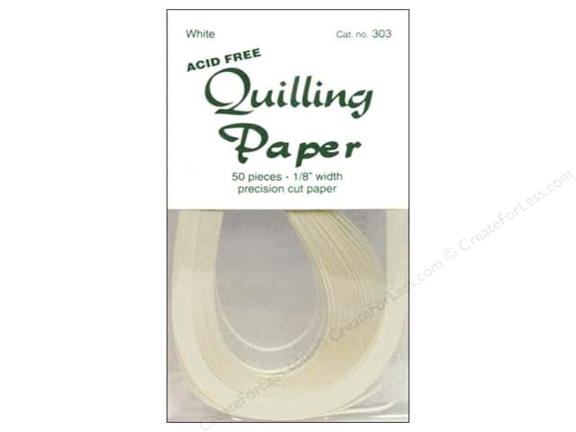 Lake City Crafts Quilling Paper 1/8 in. Creamy White 50 pc.