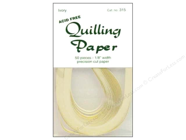 Lake City Crafts Quilling Paper 1/8 in. Ivory 50 pc.