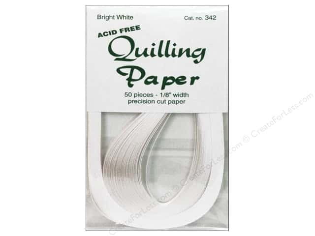 Lake City Crafts Quilling Paper 1/8 in. Bright White 50 pc.