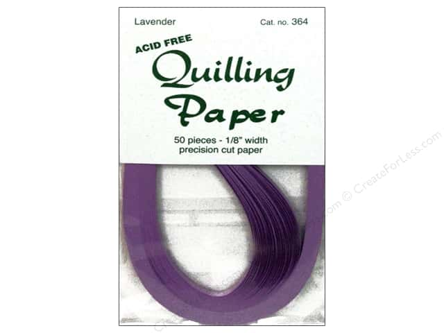 Lake City Crafts Quilling Paper 1/8 in. Lavender 50 pc.